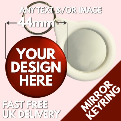 44mm Mirror Key Ring