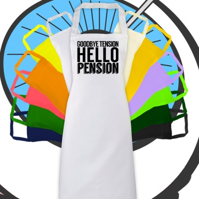 Adults Hello Pension Retirement Apron