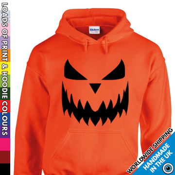 Adults Halloween Pumpkin Face Hoodie