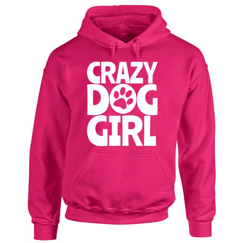 Adults Crazy Dog Girl Hoodie