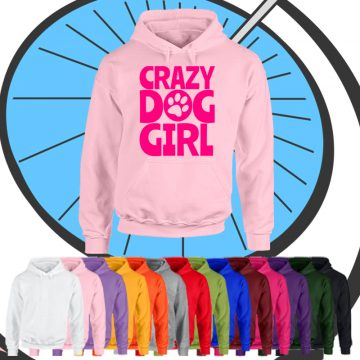 Adults Crazy Dog Girl Hoodie