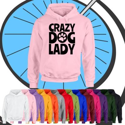 Ladies Crazy Dog Lady Hoodie