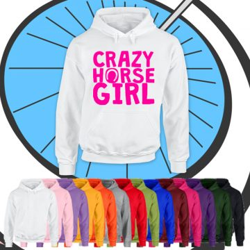 Adults Crazy Horse Girl Hoodie