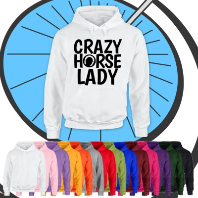 Adults Crazy Horse Lady Hoodie