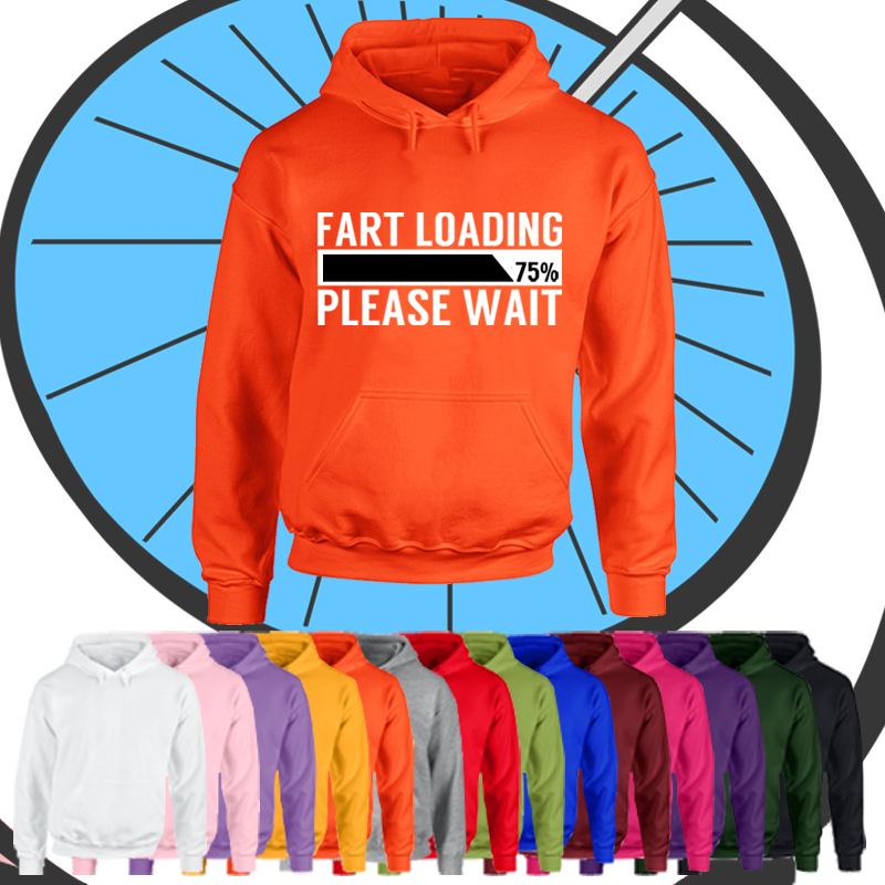 Adults Fart Loading Funny Hoodie