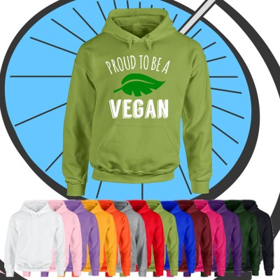 Adults Proud To Be A Vegan Hoodie