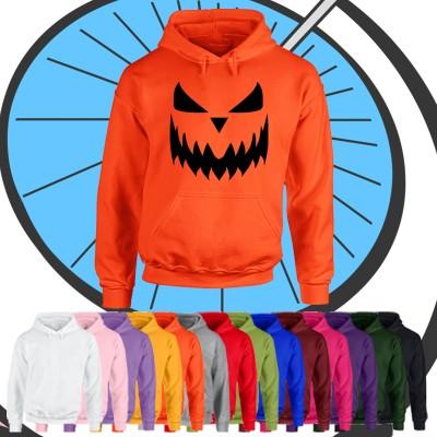 Adults Halloween Pumpkin Face Hoodie