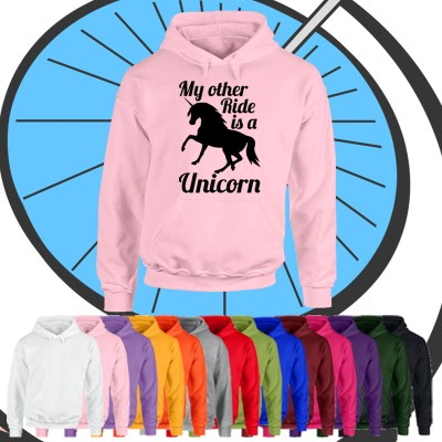 Adults My Other Ride Is A Unicorn Hoodie