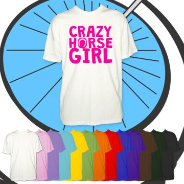 Kids Crazy Horse Girl T Shirt