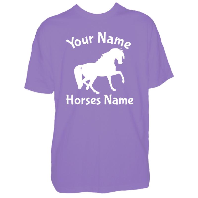 Kids custom horse t shirt for Custom kids t shirts