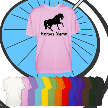 Kids Custom Horse T Shirt