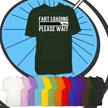 Kids Fart Loading Funny T Shirt