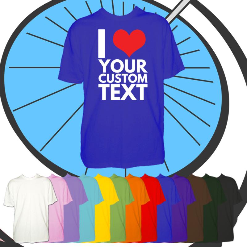 Kids I Heart Custom Text T Shirt