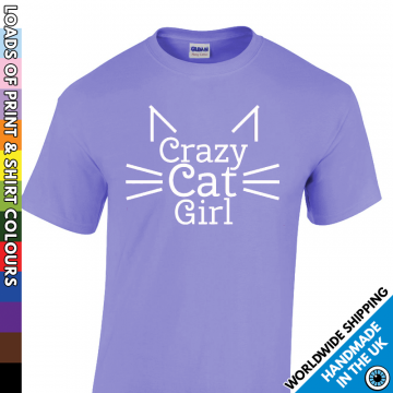 Kids Crazy Cat Girl T Shirt