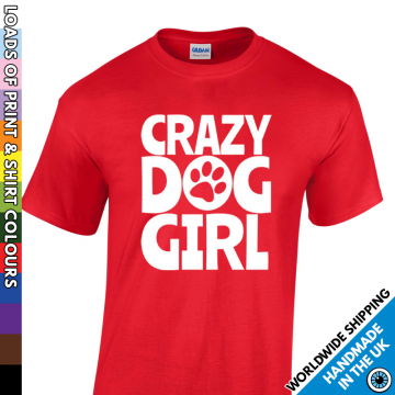 Kids Crazy Dog Girl T Shirt
