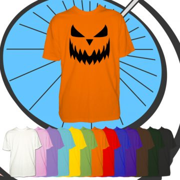 Kids Halloween Pumpkin Face T Shirt