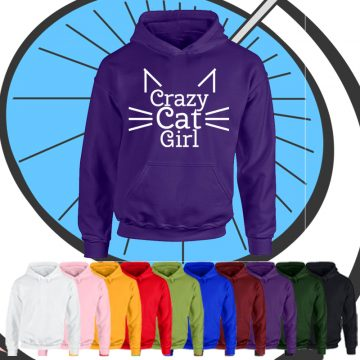 Kids Crazy Cat Girl Hoodie