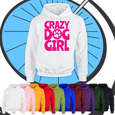Kids Crazy Dog Girl Hoodie