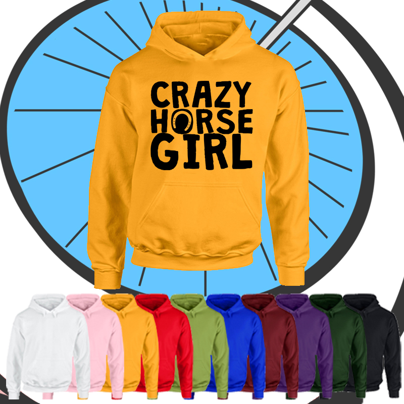 Kids Crazy Horse Girl Hoodie