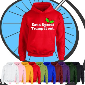 Kids Eat A Sprout Trump It Out Hoodie