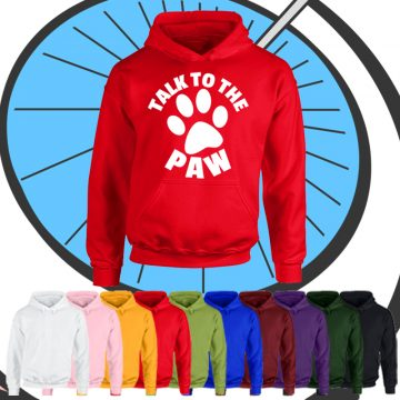 Kids Talk To The Paw Hoodie