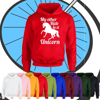 Kids My Other Ride Is A Unicorn Hoodie