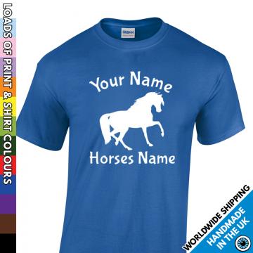 Kids Custom Horse And Rider T Shirt