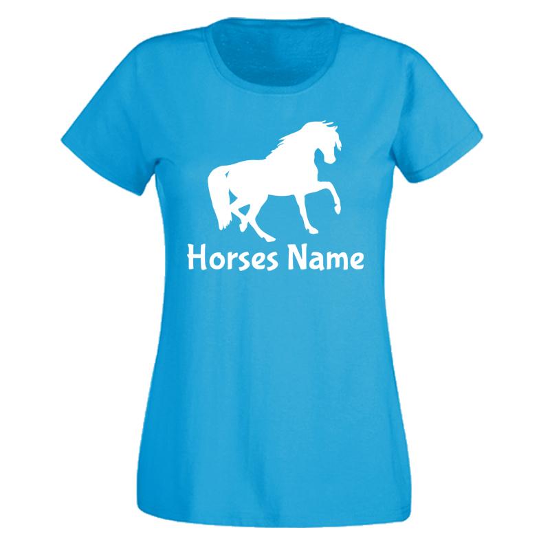 Ladies custom horse t shirt for Custom t shirts for women
