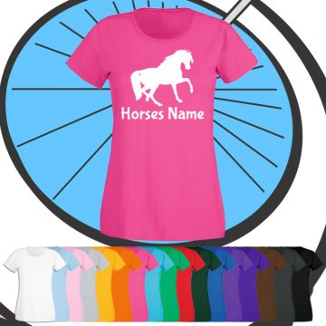 Ladies Custom Horse T Shirt