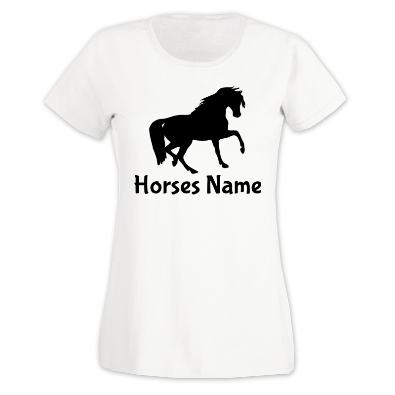 Custom Horse T Shirt Next Working Day Dispatch On All