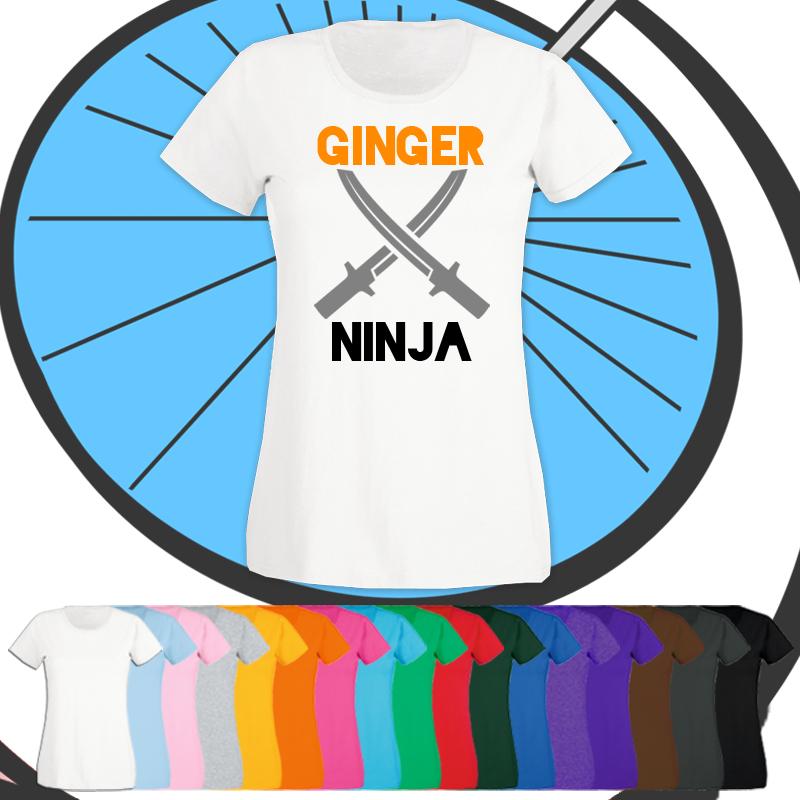 Ladies Ginger Ninja T Shirt