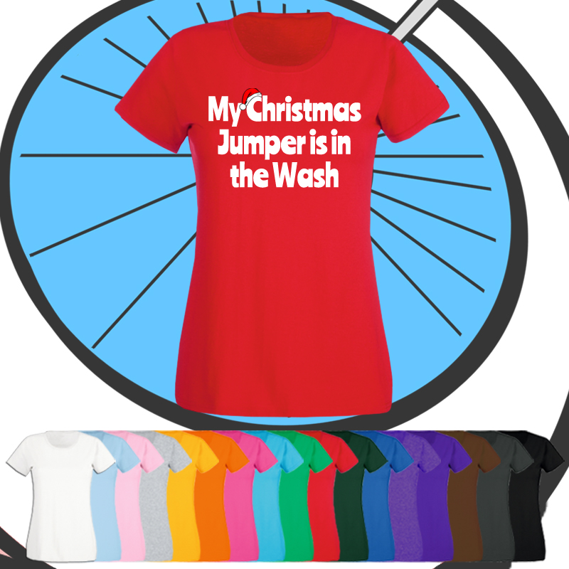 Ladies Christmas In The Wash T Shirt