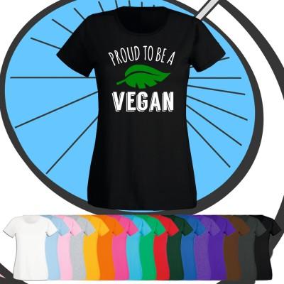 Ladies Proud To Be A Vegan T Shirt