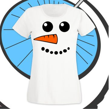 Ladies Snowman T ShirtLadies Snowman T Shirt
