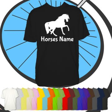 Mens Custom Horse T Shirt