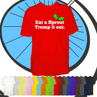 Mens Eat A Sprout Trump It Out T Shirt
