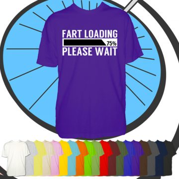Mens Fart Loading Funny T Shirt