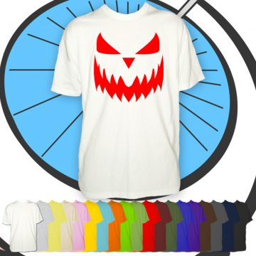 Mens Halloween Pumpkin Face T Shirt