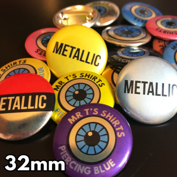 32mm Metallic Pin Badges