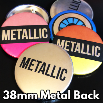 38mm Metallic Pin Badges