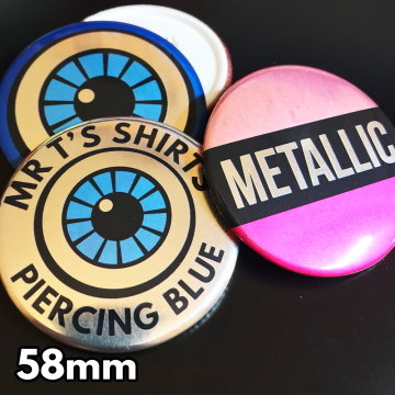 58mm Metallic Pin Badges