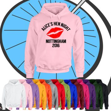 Ladies Customised Hen Night Hoodie