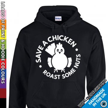 Kids Save A Chicken Roast Some Nuts Hoodie