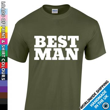 Mens Best Man T Shirt