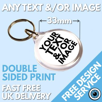 Custom Printed Round Keyrings