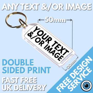 Custom Printed Keyrings Long