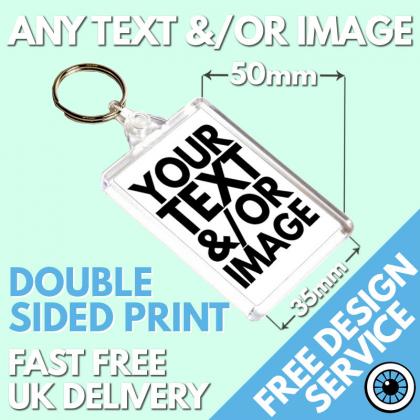 Custom Printed Medium Keyrings