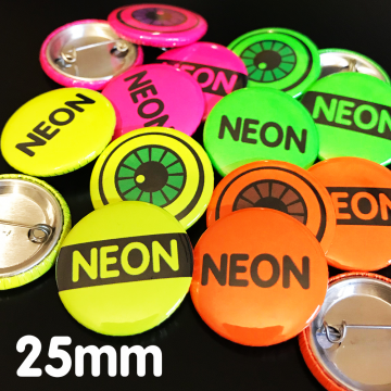 25mm Neon Pin Badges Custom Printed