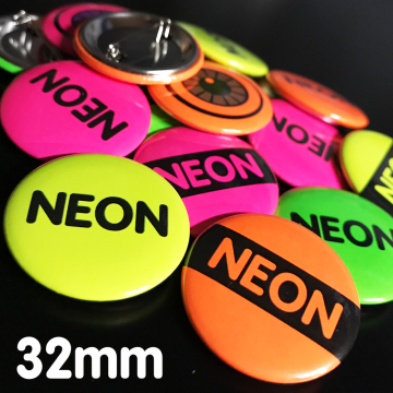 32mm Neon Pin Badges