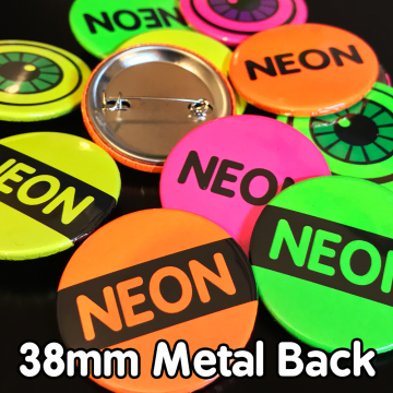 38mm Neon Pin Badges